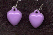HEART PURPLE PASTEL EARRINGS - Cute Valentines Day Love Charm Jewelry
