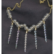 ICICLE NECKLACE-Fun Winter Holiday Christmas Charm Funky Jewelry