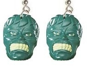 HUGE The Incredible HULK EARRINGS - Super Hero Movie Comics Costume Jewelry