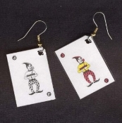 JOKER PLAYING CARDS EARRINGS - Las Vegas Lucky Casino Charm Jewelry