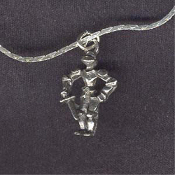 KNIGHT ARMOR PENDANT NECKLACE-Prince Princess Diva Charm Jewelry