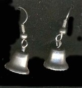 LIBERTY BELL EARRINGS-USA Teacher Patriotic Charm Gift-SILVER