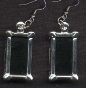 PHOTO FRAME EARRINGS to Personalize - To add your photo or LICENSE PLATE
