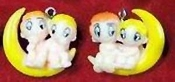 LOVE IS... KID COUPLE EARRINGS -F- Retro (60's-70's) Best Friends Cartoon Comic Charm Jewelry