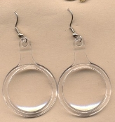 MAGNIFYING GLASS EARRINGS - Fun Retirement Charm Jewelry - Vintage Toy - REALLY WORKS!!!