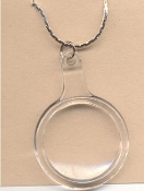 MAGNIFYING GLASS PENDANT NECKLACE-Teacher Charm Jewelry-Works!