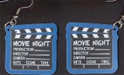 Movie Theater MOVIE DIRECTOR CLAPBOARD EARRINGS - Big Fun Thespian Jewelry