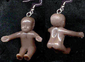 Cute Mini NAKED BABY EARRINGS - Babysitter Shower Charm Jewelry -AA