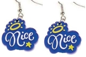 NICE EARRINGS - Big Funky Diva Attitude Pollyanna Charm Jewelry