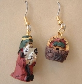 NOAH & ARK EARRINGS - God's Rainbow Promise Resin Charm Jewelry