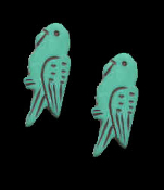 Mini BUDGIE PARAKEET PARROT BIRD EARRINGS - Pet Jewelry