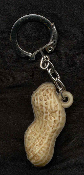 PEANUT SHELL KEYCHAIN - HUGE Vintage Vending Funky Food Charm Jewelry