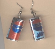 PEPSI CANS EARRINGS - Cola Drink Can - Miniature Soda Pop Jewelry
