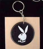 PLAYBOY BUNNY VINTAGE KEYCHAIN - 60's 70's Collector Charm Jewelry