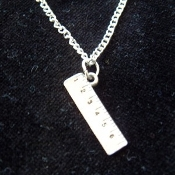 RULER PENDANT NECKLACE-Pewter School Teacher Graduation Jewelry