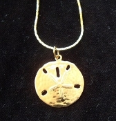 SAND DOLLAR PENDANT NECKLACE-Vintage Retro Beach Charm Jewelry