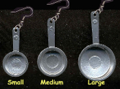 SAUCE PAN EARRINGS - Cook Chef Restaurant Costume Jewelry - Small