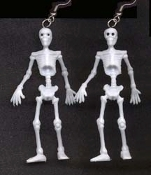 SKELETON MINIATURE EARRINGS - Realistic Mini Pirate Gothic Punk Charm Jewelry