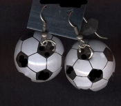3-d SOCCER BALL EARRINGS - Ref Goalie FutBol Mom Coach Jewelry