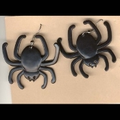 BLACK WIDOW SPIDER EARRINGS - Halloween Witch Costume Jewelry