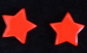 Star Button Post Earrings - Yellow