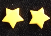 Star Button Post Earrings - Red