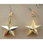 STAR EARRINGS - Patriotic Support Our Troops Jewelry - Small GOLD