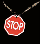 STOP SIGN PENDANT NECKLACE-Street Traffic Teacher Charm Jewelry