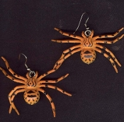Big TIGER SPIDER TARANTULA EARRINGS - Gothic Punk Insect Jewelry