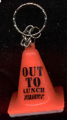 Expression Orange TRAFFIC CONE KEYCHAIN - Receive the Saying pictured!