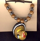 TURKEY PENDANT NECKLACE-Funky Holiday Thanksgiving Jewelry-HUGE