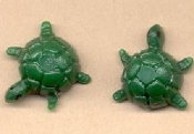 Mini TURTLE BUTTON EARRINGS - Tortoise Collector Jewelry - TINY Vintage Plastic Stud Charm