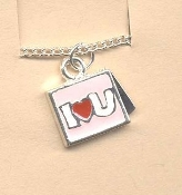 Valentine's Day Charm PENDANT NECKLACE - HEART Love Jewelry -L