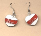 Valentine's Day Charm EARRINGS - HEART Love Jewelry -C