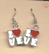 HEART LOVE EARRINGS - Valentine's Day Charm Jewelry -J