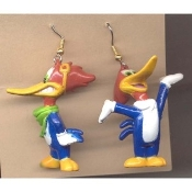 WOODY WOODPECKER EARRINGS - Walter Lantz TV Cartoon Jewelry