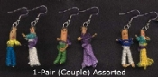 WORRY DOLLS COUPLE EARRINGS - Tiny South American Legend Novelty Charm Jewelry -1 PAIR, chosen from assorted styles.