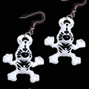 Toy ZEBRA CARTOON EARRINGS - Jungle Safari Zoo Animal Novelty Jewelry