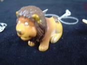 LION SITTING NECKLACE-Jungle King Toy Charm Funky Jewelry-HUGE