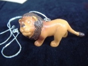 LION STANDING NECKLACE-Jungle King Toy Charm Funky Jewelry-HUGE
