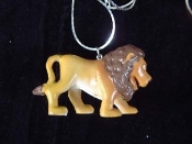 LION WALKING NECKLACE-Jungle King Toy Charm Funky Jewelry-HUGE