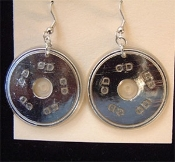 Realistic CD EARRINGS - Rock Music Gothic Punk Emo Mini Charm Jewelry