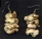Huge Vintage-look POPCORN EARRINGS - Realistic Old-fashioned Country-style Jewelry