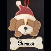 DOG WOOD ORNAMENT - Large Personalized WALL SIGN - Pet Christmas Gift - (SPECIFY NAME)