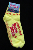 Punk Pimp Halloween Costume Novelty WHO'S YOUR SUGAR DADDY SOCKS Women's Size 9-11 (Shoe 4-10)