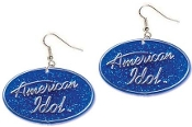 Huge AMERICAN IDOL LOGO EARRINGS - Big Glittery Charm Jewelry