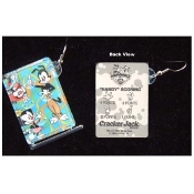 Huge Funky ANIMANIACS PINBALL GAME EARRINGS Novelty Character Costume Jewelry - UNDERWATER OCEAN - Swimming Scuba Diver Snorkeler - Real Mini Pin Ball Puzzle Collectible Toy. Genuine Circa 1996 Vintage Miniature Cracker Jack Prizes Plastic Charms