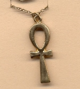 ANKH PENDANT NECKLACE AMULET-Vintage Egyptian Life Charm-GOLD