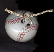 BASEBALL SOFTBALL PENDANT NECKLACE - Funky Team Coach Jewelry