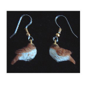 Mini BIRD EARRINGS - Spring Garden Birds Jewelry -F